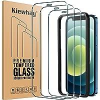 Kiewhay Schermbeschermer Compatibel met iPhone 12/ iPhone 12 Pro Screenprotector 6.1'', [9H-hardheid] [Geen Bubbels…