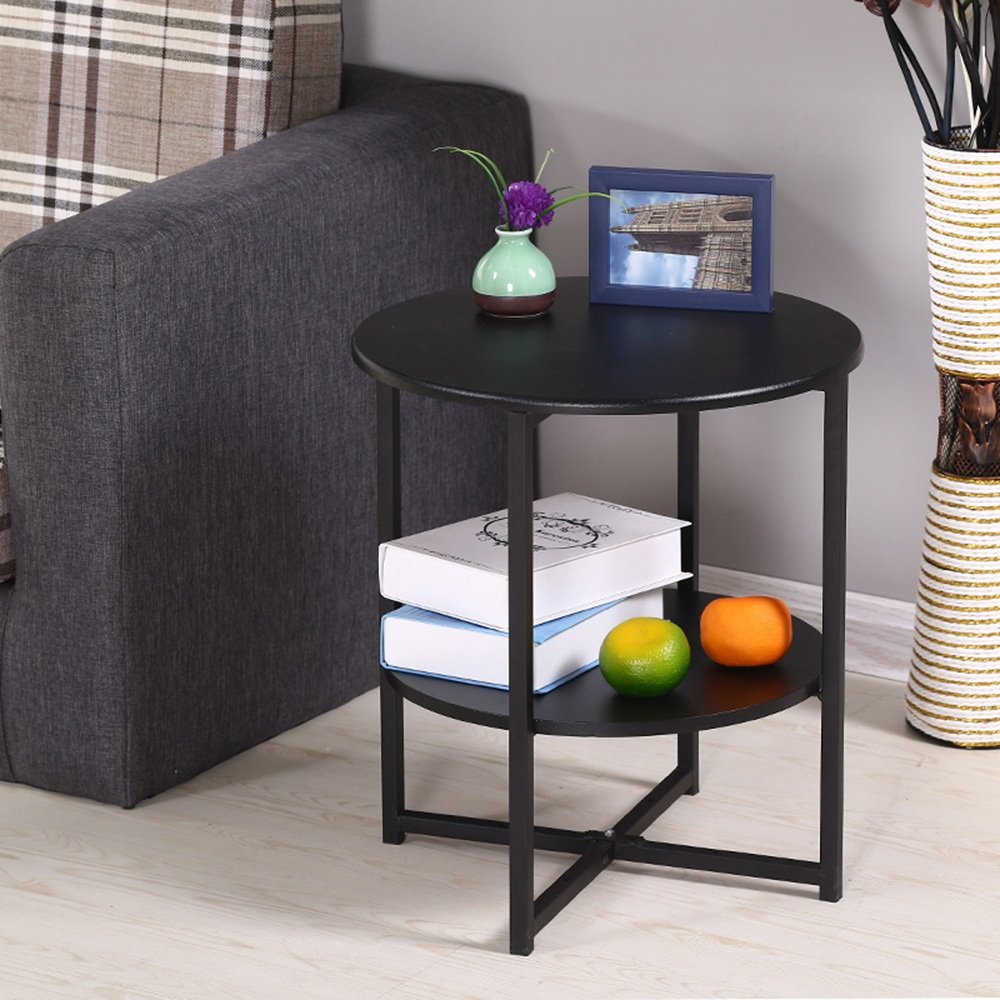 D2 LVZAIXI Small Round Table Modern Minimalist Living Room Phone Small Side Table Corner (color   D2)