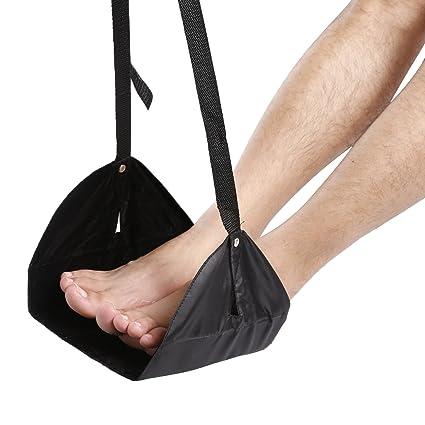 FunCase pie Resto vuelo viaje portátil ajustable pies hamaca pierna resto para bus avión tren hogar