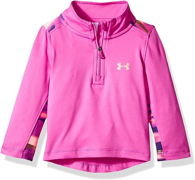 NEW Under Armour Toddler Girl/'s Blue Pink Zip Fleece Sweater Pullover Top 3T