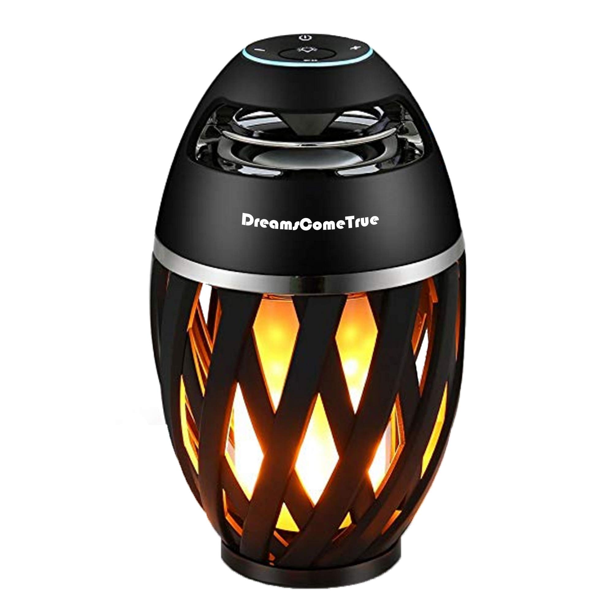 Led Flame Speaker, Flame Atmosphere Table Lamp, Music Night Light,Outdoor Portable and Waterpoof Bluetooth Stereo Speaker with HD Audio and Enhanced Bass, for iPhone/iPad/Android by DreamsComeTrue