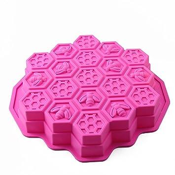 Moldes de Pastel/repostería/pan/hielo de panal de abeja moldes para hornear silicona molde alimentos anti adhesiva color Random: Amazon.es: Hogar