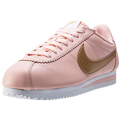 competitive price 3d16b 10751 Nike Classic Cortez Leather Womens Trainers Pink Peach - 5.5 UK
