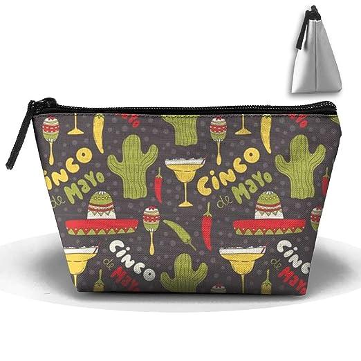 Amazon Com Makeup Organizer Cinco De Mayo Pouch Cosmetic Bag