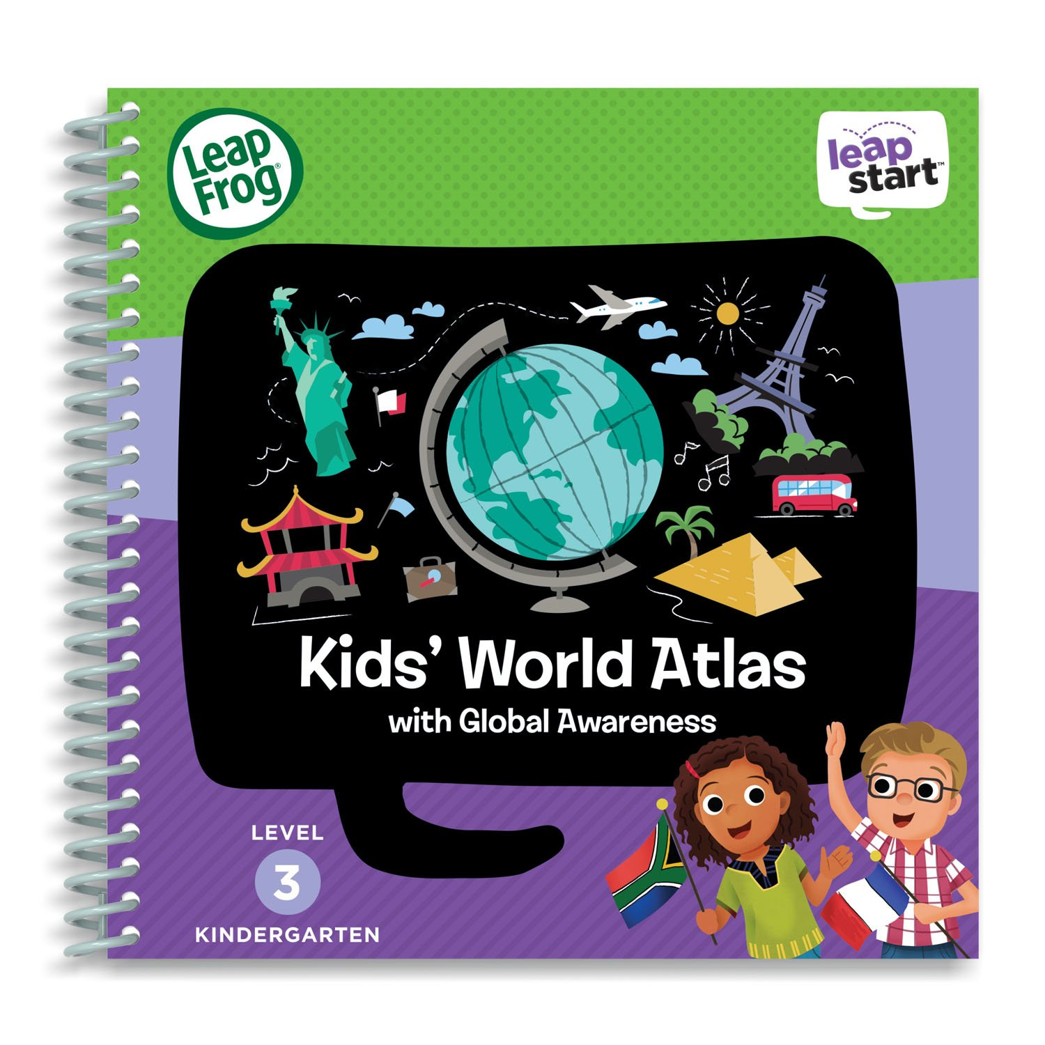 LeapFrog LeapStart Level 3 Kindergarten Activity Book Bundle with Kids' World Atlas, Amazing Animals by LeapFrog (Image #2)