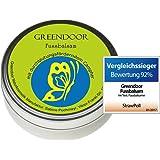 Greendoor Fussbalsam mit BIO Kakaobutter, jetzt den VERGLEICHSSIEGER kaufen, Fusscreme & Schrundensalbe, 4-fache Ergiebigkeit, Naturkosmetik, Fuß Balsam
