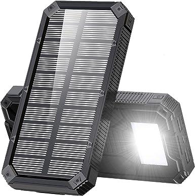 Amazon.com: Cargador solar, batería externa portátil de ...
