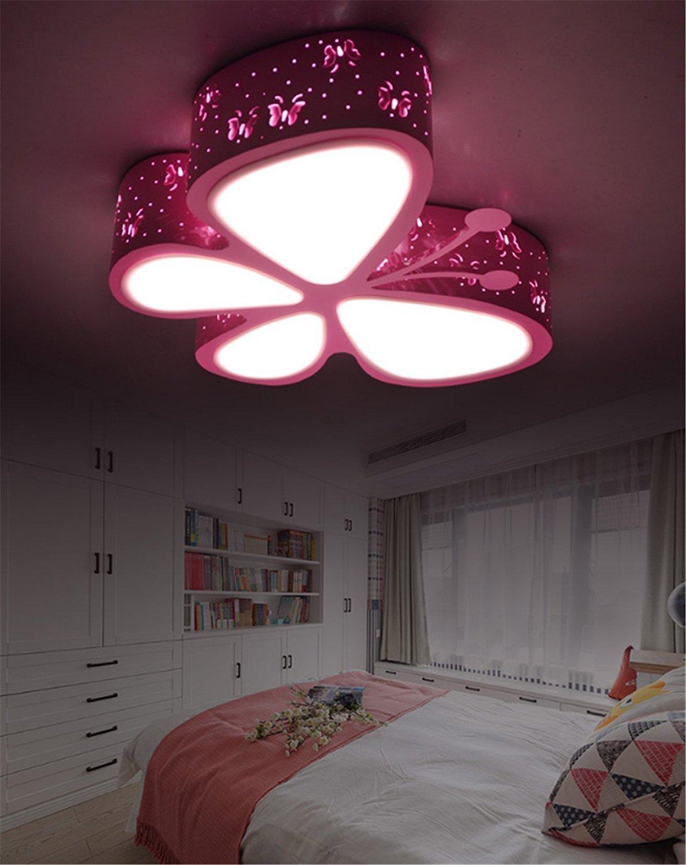 Kaltwei/ß Licht Kinderlampe Rosa Schmetterling M/ädchen Deckenleuchte Kinderleuchte Kinderzimmerlampe Mit Led Die Decke Lampe F/ür Kinderzimmer Babyzimmer Baby Lampe Kinder Schlafzimmer Babylampe