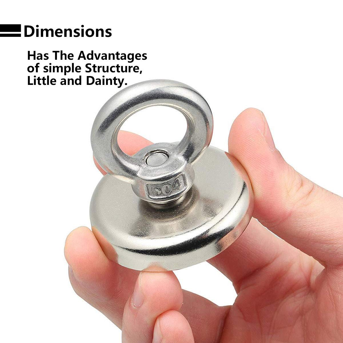 for Multi-Purpose Strong Magnet,165 LB Super Powerful Pulling Force Round Neodymium Magnet with Countersunk Hole and Eyebolt,Diameter 1.89INCH 1PC Njd48 48MM