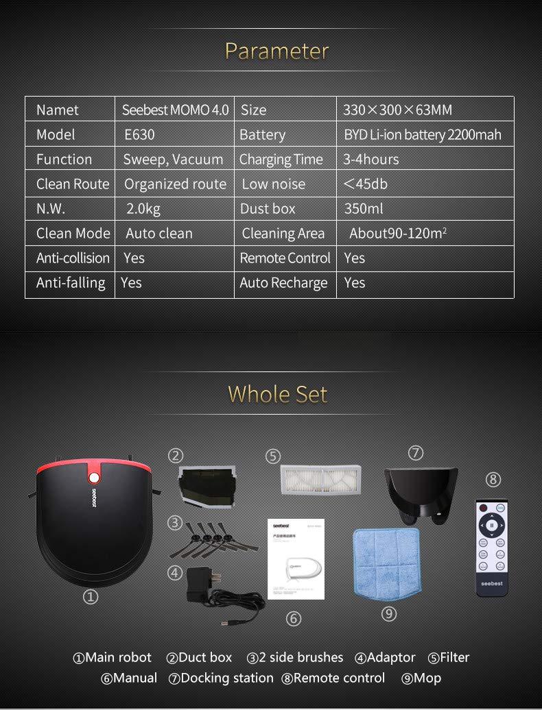 Amazon.com - E630 MOMO 4.0 Auto Recharge Super Slim Robot ...
