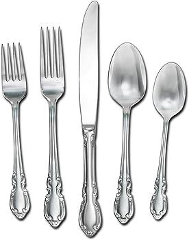 20-Piece Pfaltzgraff Vienna Stainless Steel Flatware Set
