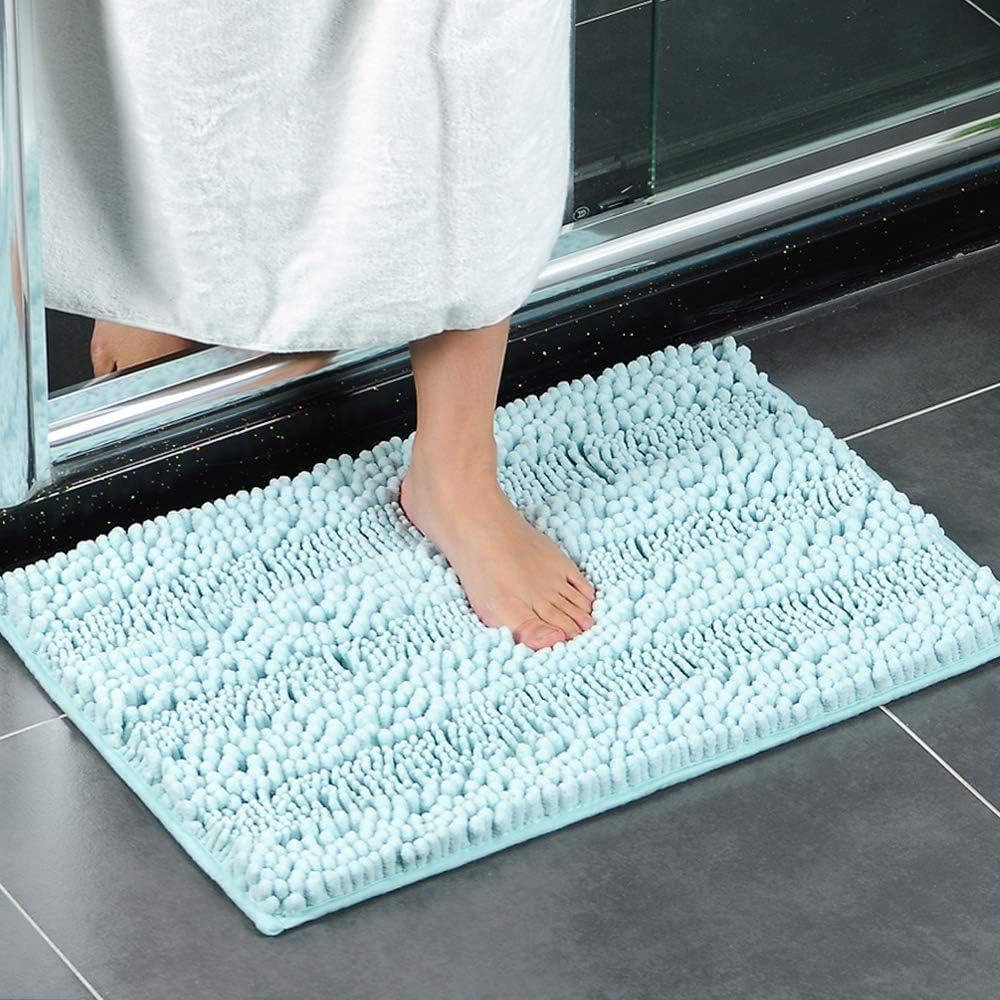XIOMOO Chenille Bathroom Carpet Mat Bedroom Floor Mat Rug Anti-slip Doormat Rug