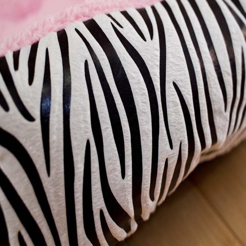 Daeou Cama para Mascotas Cebra Linda Estera del Animal doméstico de la Raya Rosa: Amazon.es: Hogar