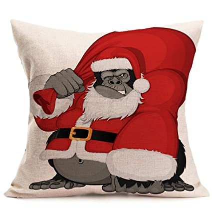 Amazon.com: iCJJL 43cm43cm Christmas Santa Claus Decoration ...