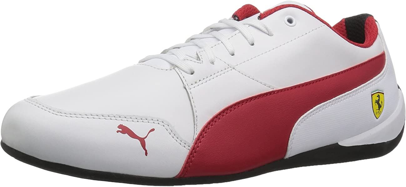 online store 81ba6 5d6c8 PUMA Men s Ferrari Drift Cat 7 Sneaker White-Rosso Corsa Black, ...