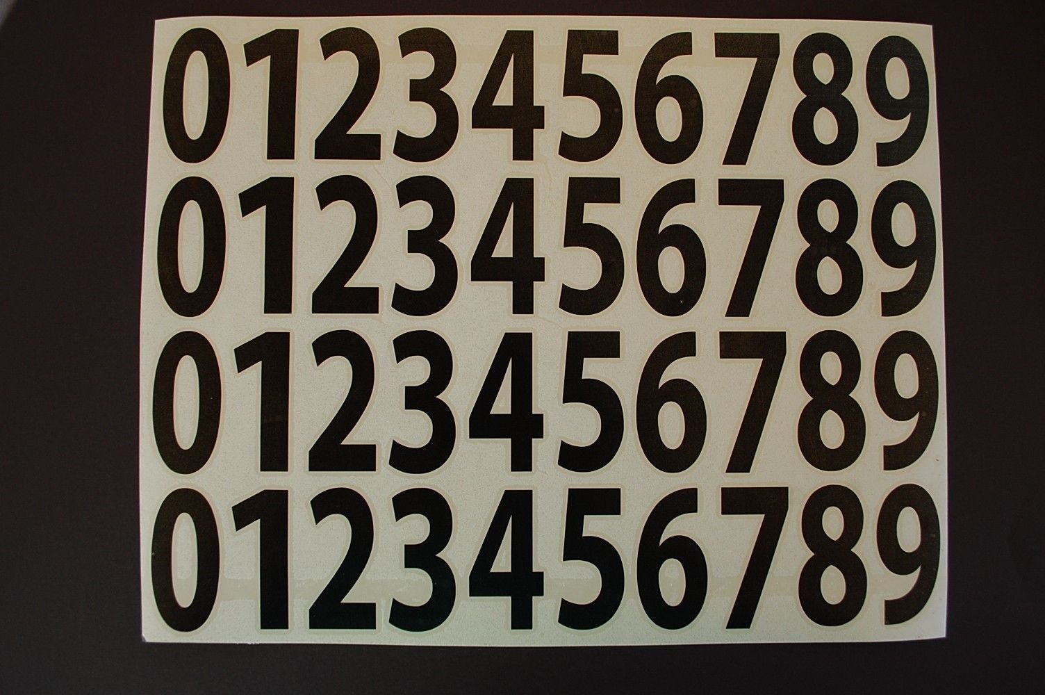 Five Star Graphics 0-9 Numbers Vinyl Sticker Decals Set Of 40 Pick Color & Size 1/2'' To 12'' (V446) (12'', Black)