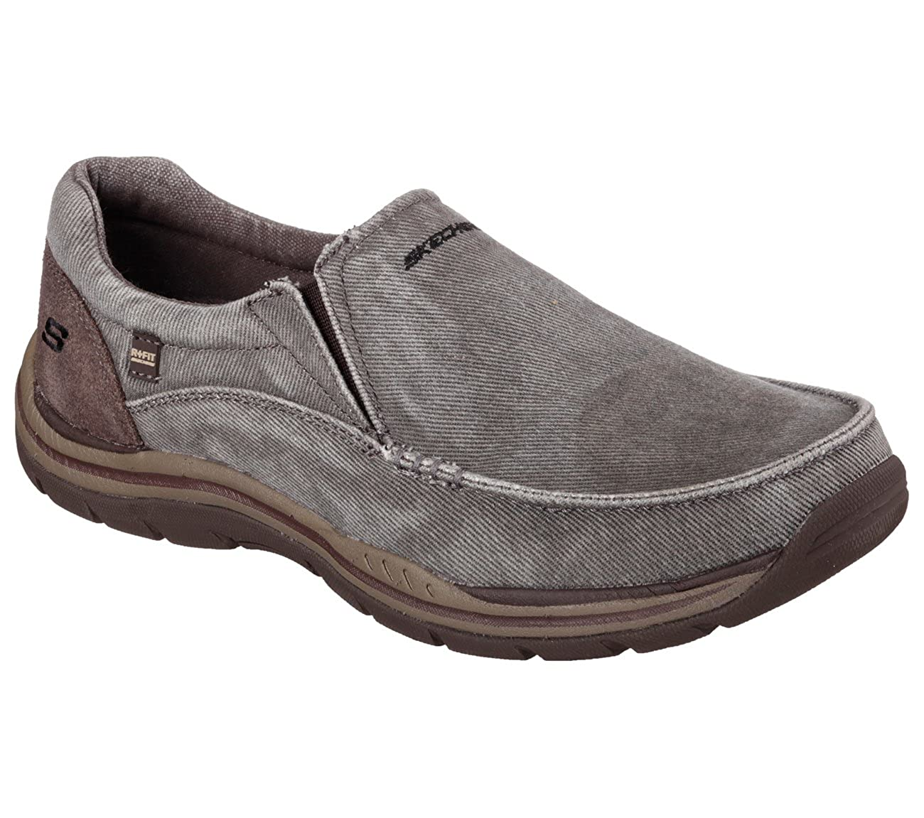 a4994e51 Amazon.com | Skechers Relaxed Fit Expected Avillo Mens Slip On Loafers  Shoes Brown 10.5 | Loafers & Slip-Ons