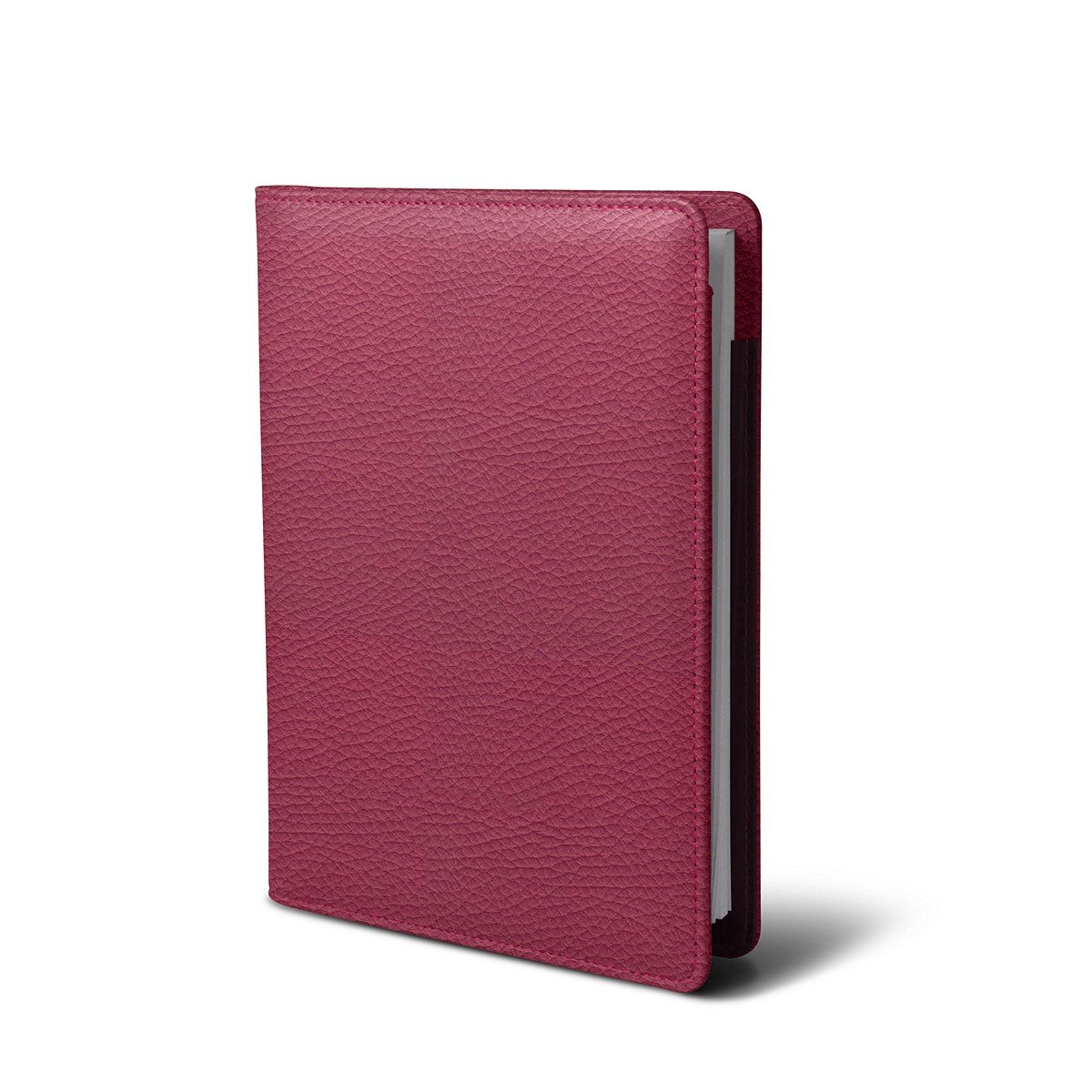 Lucrin - A5 document wallet - Fuchsia - Granulated Leather by Lucrin (Image #3)