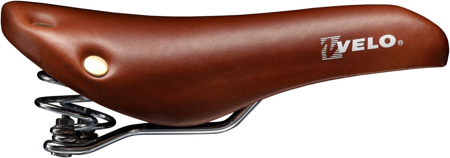 Sillín de bicicleta con muelle helicoidal, remaches, marrón ...