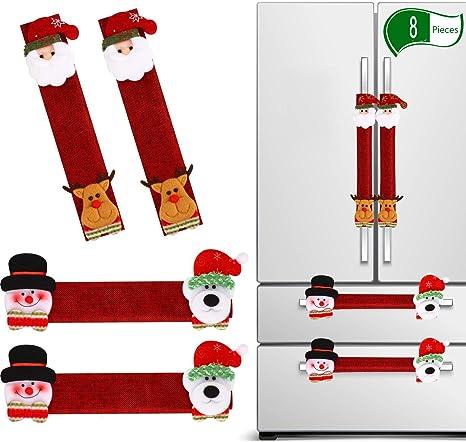 WWSUNNY Navidad manija de la Puerta del refrigerador, 8pcs ...