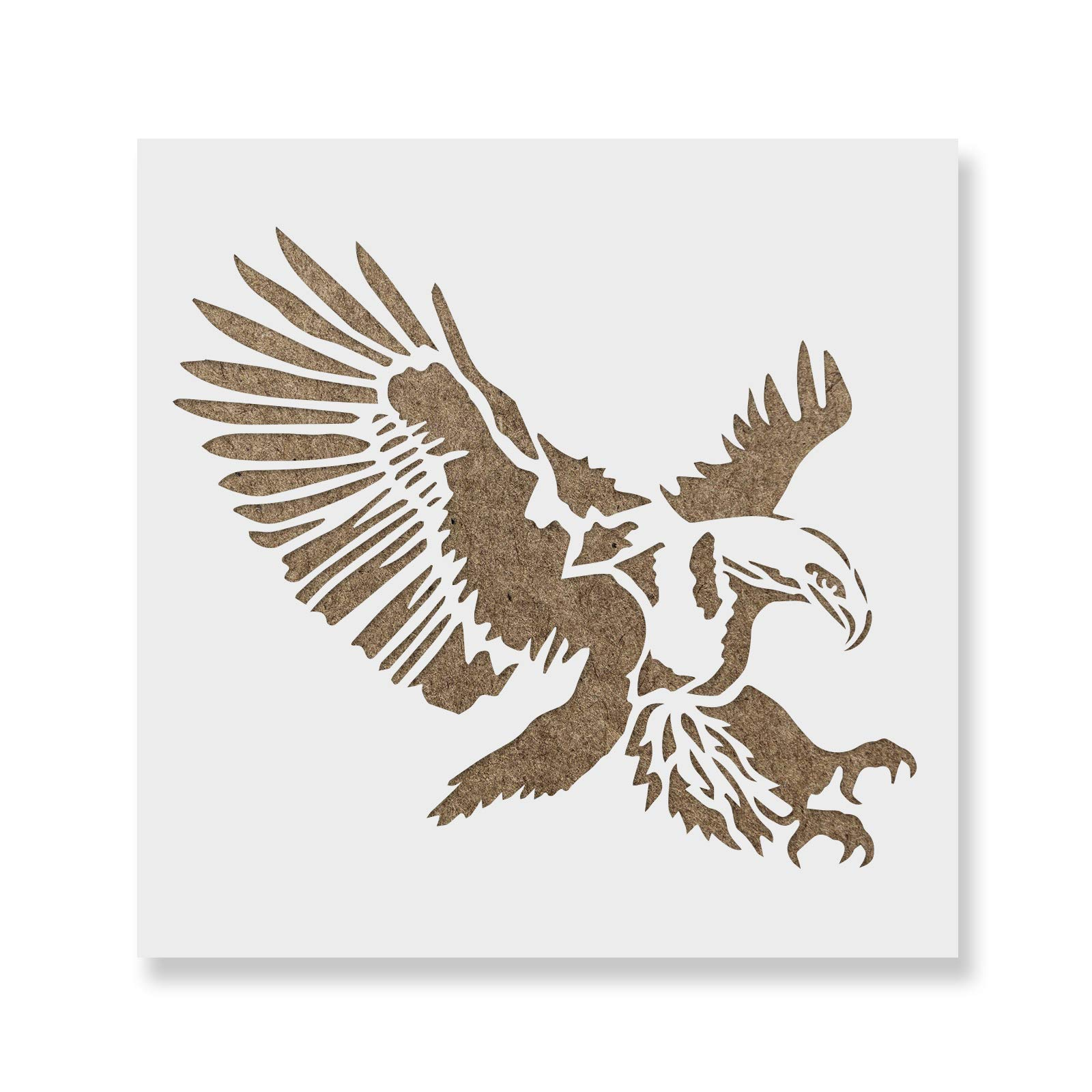 Eagle Stencil Template - Reusable Stencil of an Eagle Bird with Multiple Sizes Available