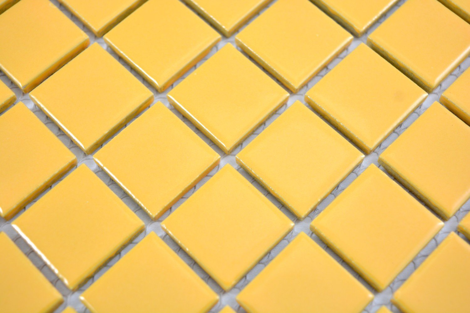 showers kitchens Ceramic mosaic tiles yellow with glossy finish for walls 1 mat bathrooms