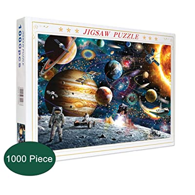 Puzzles for Adults Kids 1000 Piece Space Jigsaw Puzzle Games Planets in Space: Toys & Games