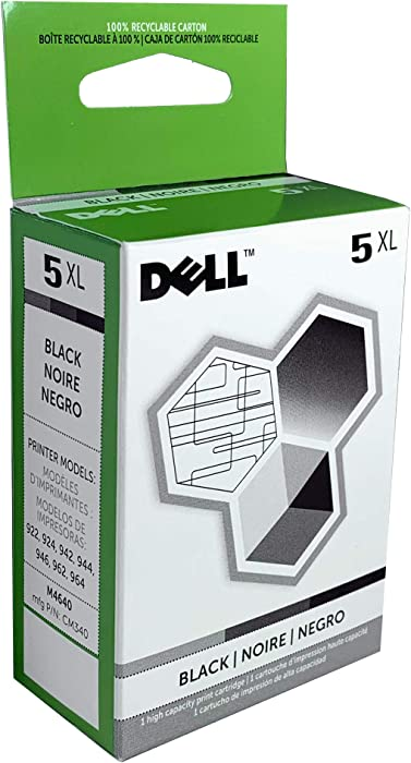 Dell M4640 5 High Capacity Black Ink Cartridge for 922/924/942/944/946/962/964