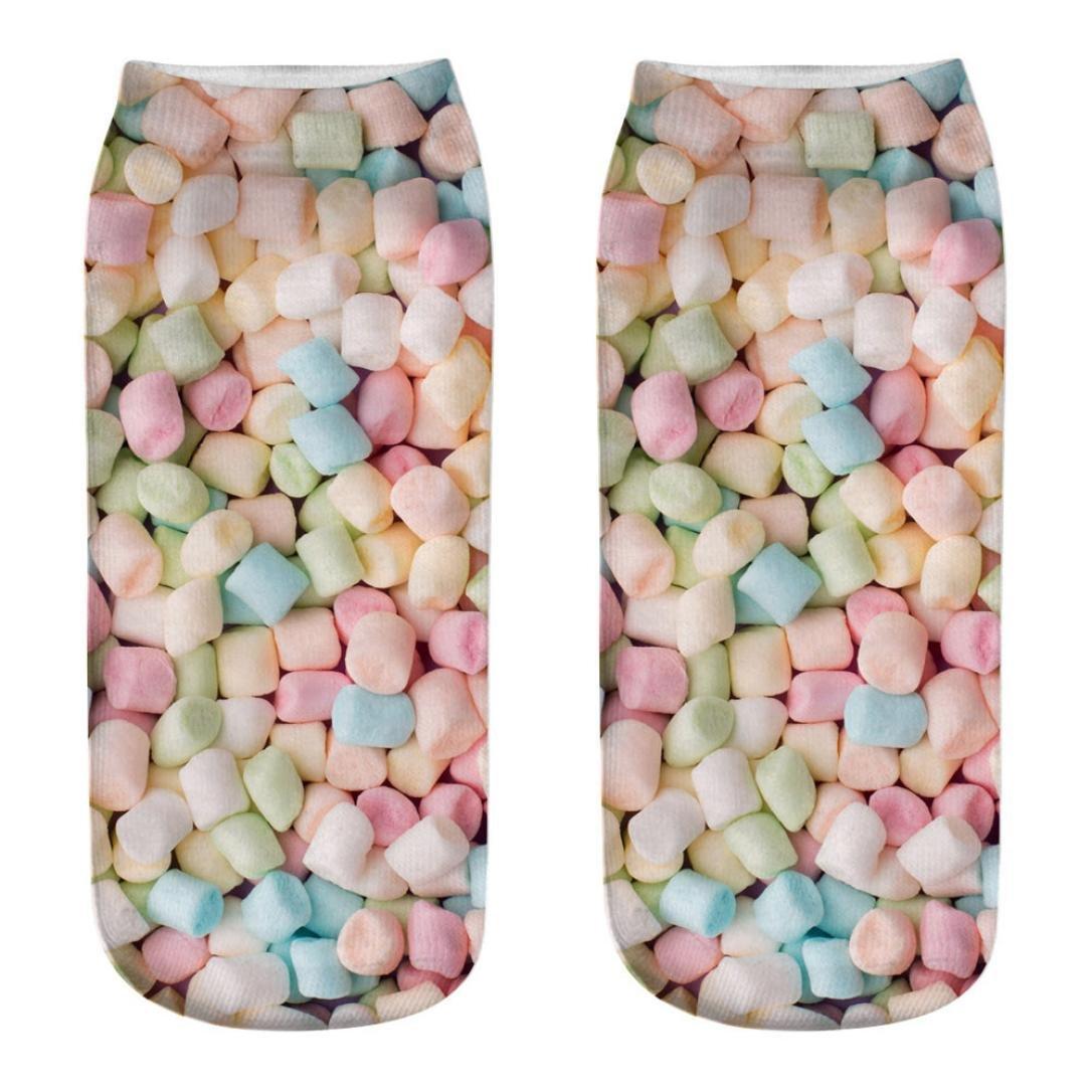 YJYdada Cute Casual Cotton Socks 3D Candy Printing Medium Socks Socks Sports Socks (I)