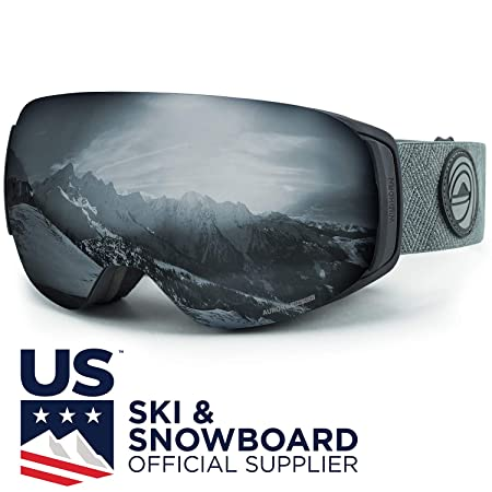 WildHorn Outfitters Roca Ski Goggles Snowboard Goggles- Premium Snow Goggles for Men, Women and Kids. Features Quick Change Magnetic Lens System with Integrated Clip Lock.