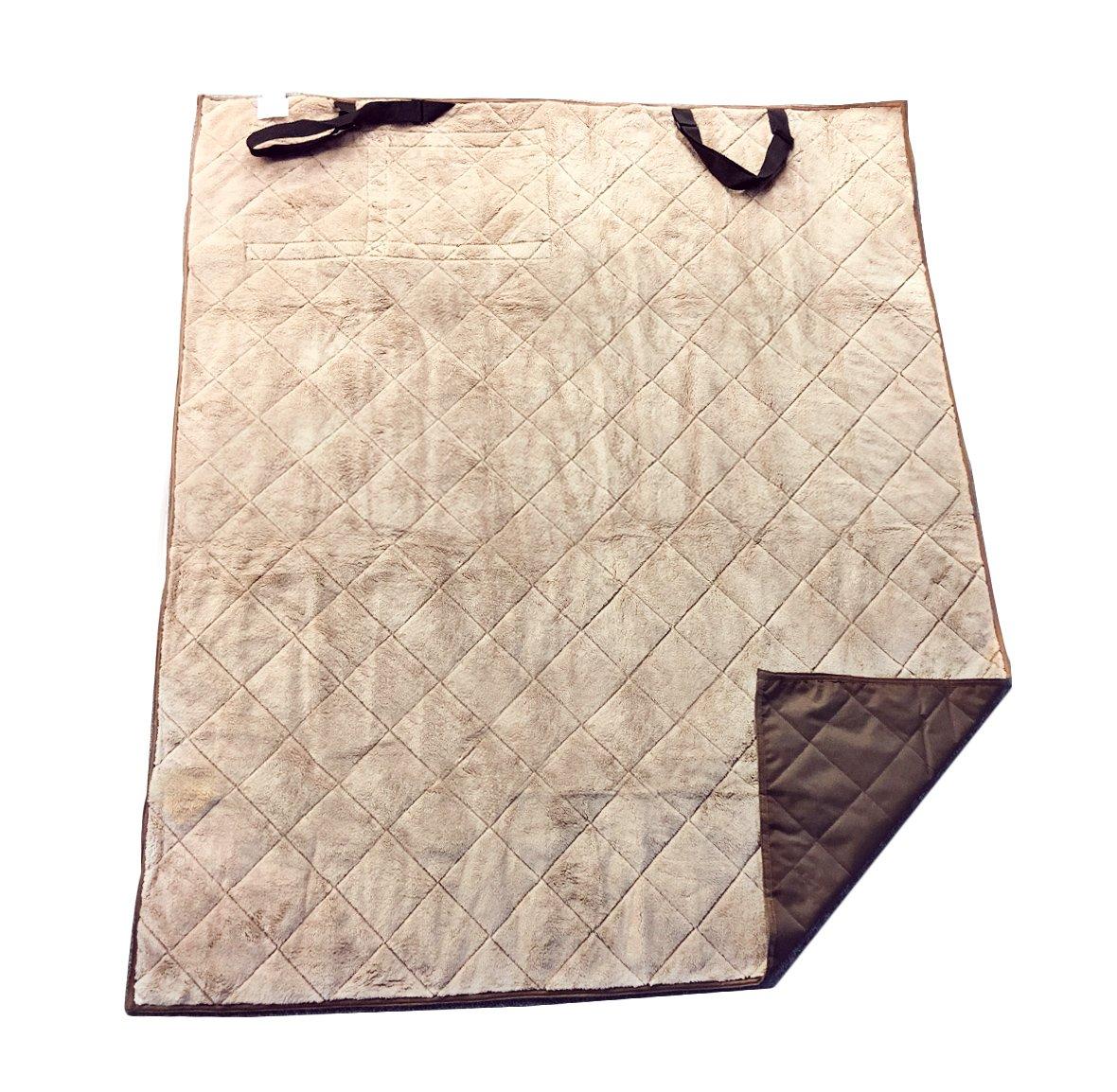 Brown HappyCare Textiles Indoor Outdoor Pet Travel Water Proof Blanket and Seat Predector, 54  x 64 , Brown