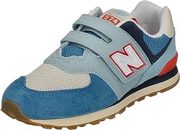 new balance 574 bambino blu