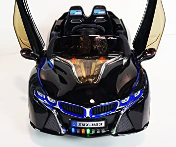 Amazon Com Style Bmw I8 12v Ride On Car For Kids With Led Wheels