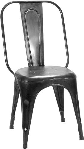 Home Elegance Metal Chair, Rustic Brown, Set of 4