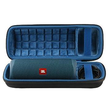 Khanka Duro Viaje Estuche Bolso Funda para JBL Flip 5 Altavoz Bluetooth port/átil Cremallera Azul