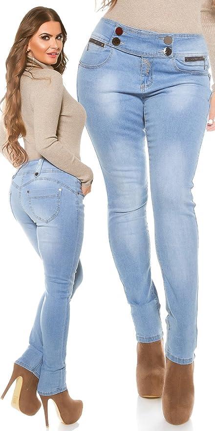 Womens Curvy Girls elasticated waist Stretchy Skinny jeans, Approx UK sizes  10 12 14 16 18 20: Amazon.co.uk: Clothing