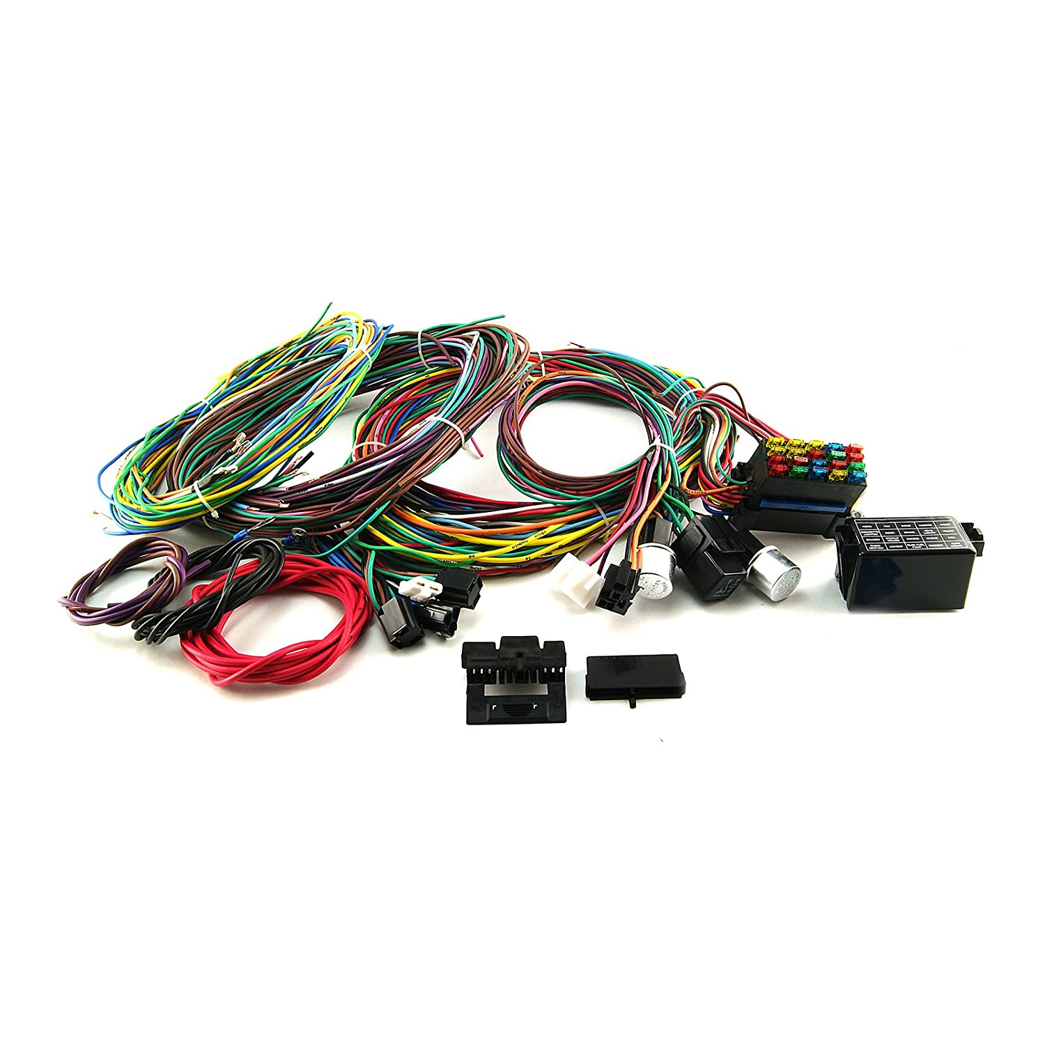 Amazon.com: Procomp Electronics PCE368.1001 Universal 20 Circuit Wiring  Harness Kit Street Rod Hot Rod Race Car: Automotive