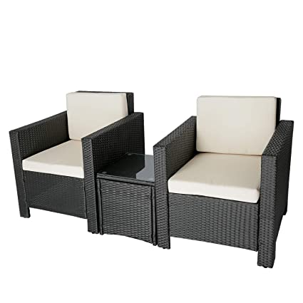 amazon com uenjoy 3pc outdoor sectional lawn patio furniture set rh amazon com Patio Furniture Clearance Amazon Patio Furniture Clearance Amazon