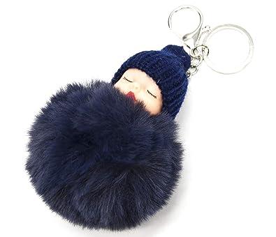 PT1613F - Llavero joya para bolso, bebé dormido con gorro y ...