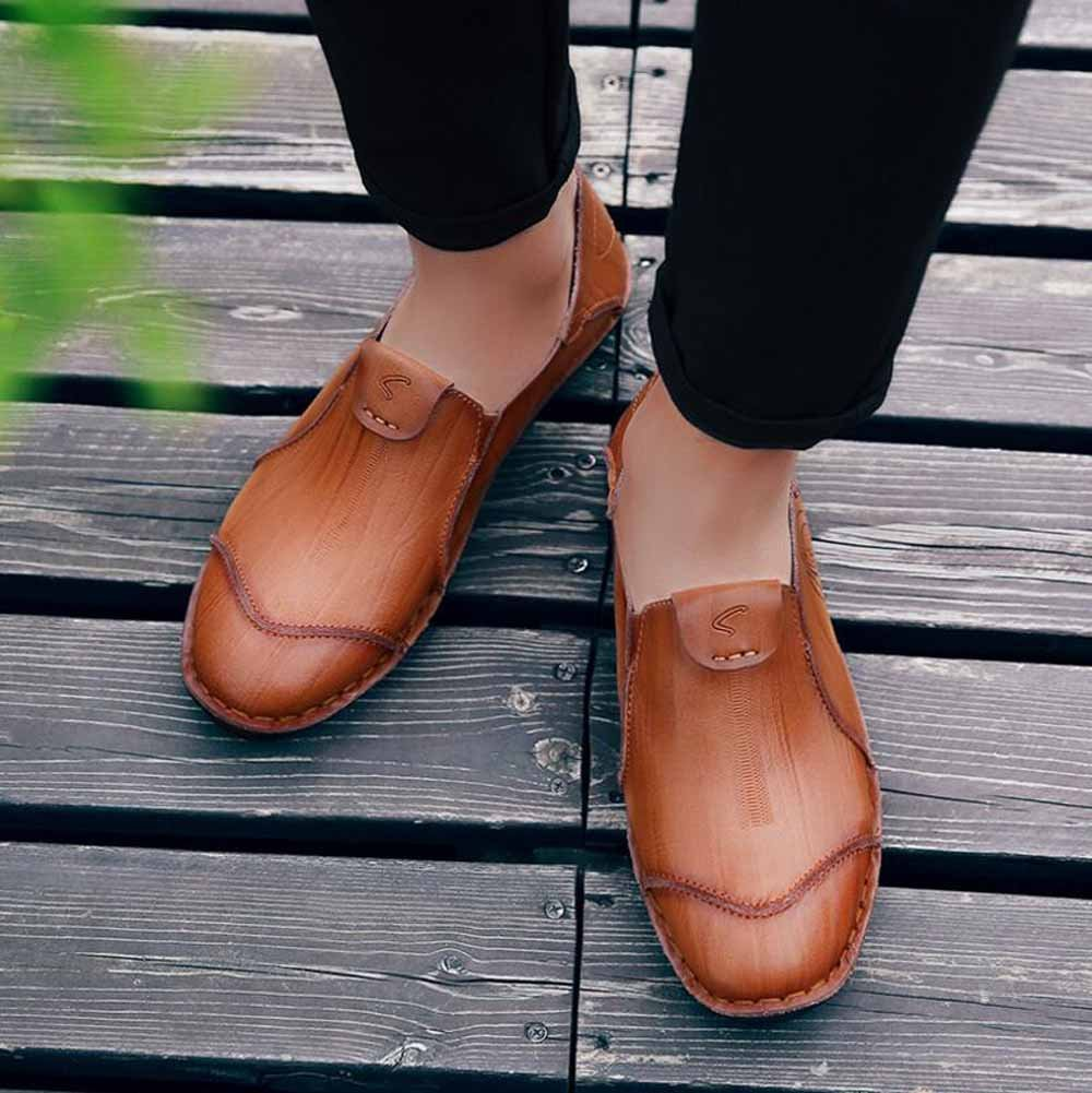 SHIXRAN Mann-Herbst beiläufige Art- Lederne Schuhe Breathable Geschäfts-Schuh-britische Art- beiläufige und Weisetendenz-Schuhe facef5