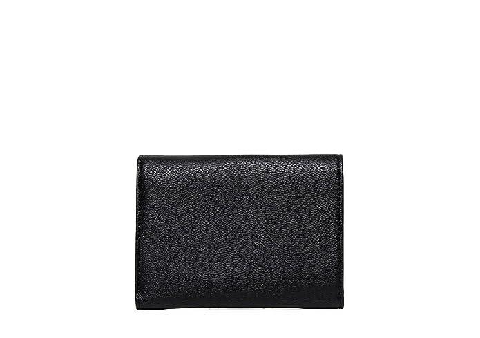 Mario Valentino cartera mujer VPS1E043K RIALTO en cuero negro, con Valentino escrito en la parte frontal: Amazon.es: Zapatos y complementos