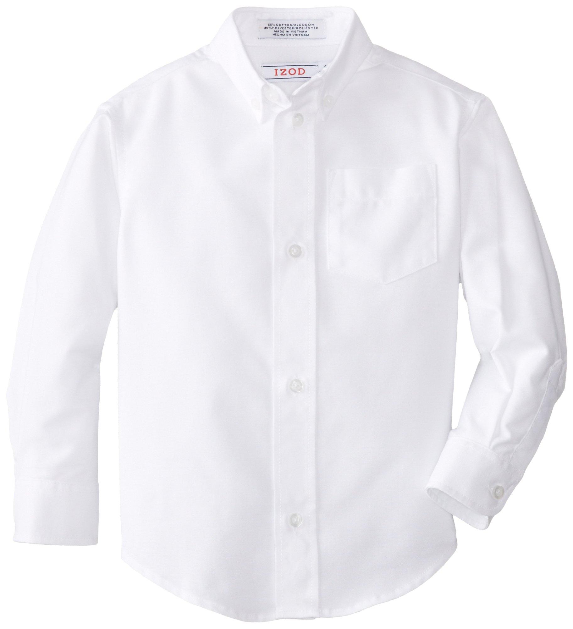 IZOD Little Boys' Oxford Shirt,White,5