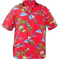 True Face Mens Hawaiian Print Xmas Casual Tshirt