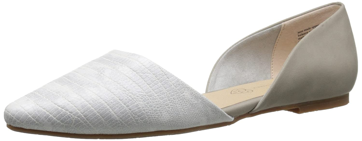 BC Footwear Women's Society Exotic Ballet Flat B015IRO5A0 8.5 B(M) US|Grey/White
