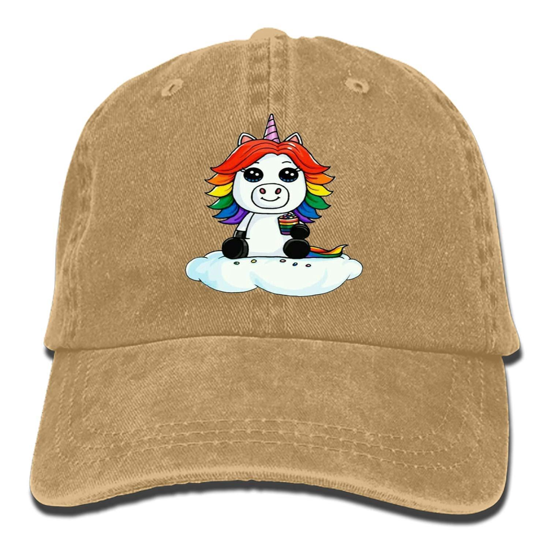 Unicorn Boy Adjustable Cowboy Cap Denim Hat for Women and Men