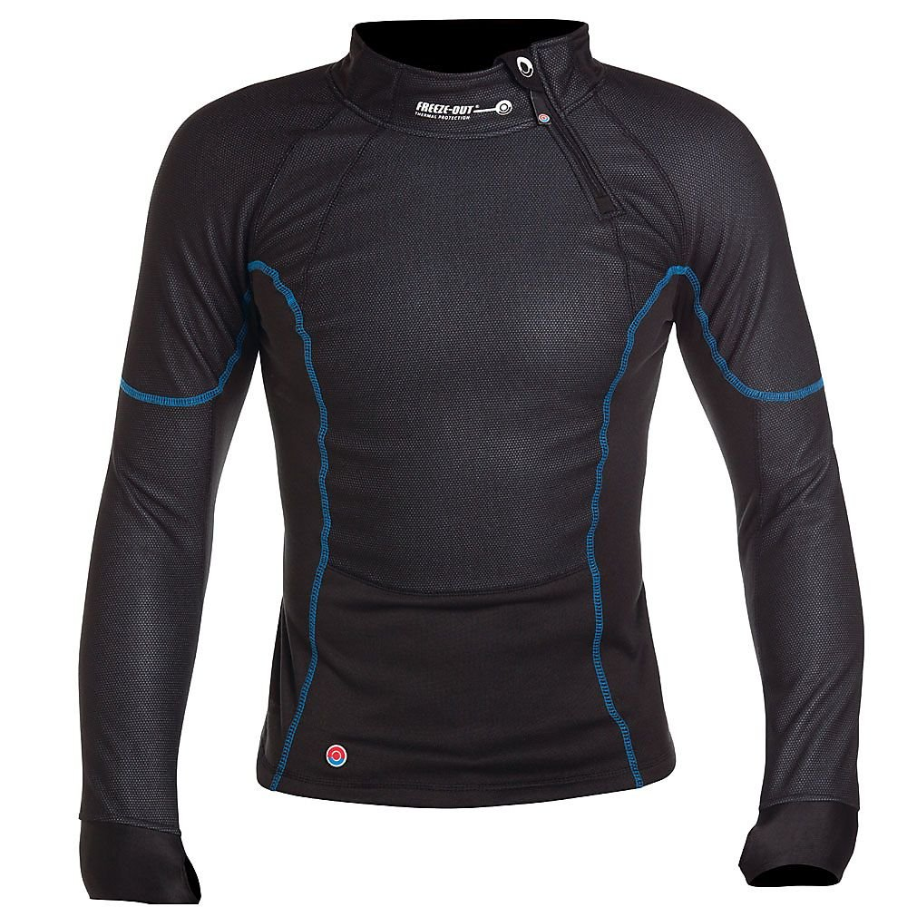 FREEZE-OUT Base Layer Long Sleeve Top - SM, Black
