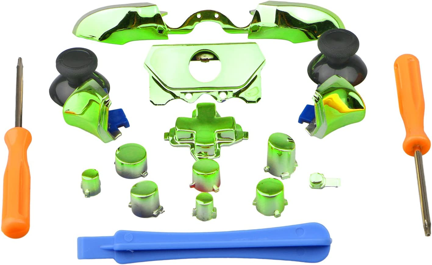Purpplex 1 Set Customized Replacement Bumper/Trigger Button for Xbox One Elite Controller - Chrome Green