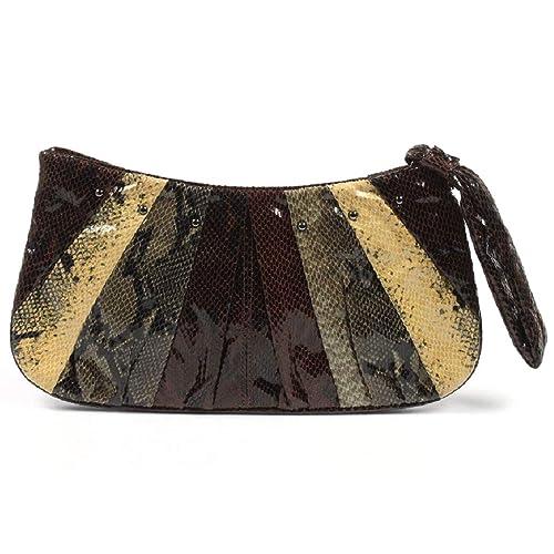 NINE WEST Cartera De Mano Con Asa/Bolsos De Muñeca Para Mujer 111005 COFFEE LIME: Amazon.es: Zapatos y complementos