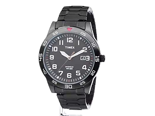 e417b23430ed Amazon.com  Timex Men s TW2P61600 Fieldstone Way Black Stainless Steel  Expansion Band Watch  Timex  Watches