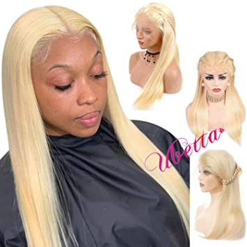 Blonde Full Lace Front Wig Straight Human